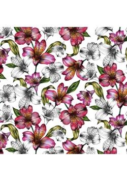 Karnet kwadrat CL0408 Etniczne lilie