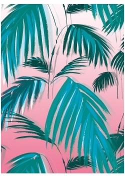 Karnet B6 z kopertą Sunset Palms