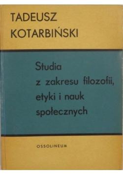 Studia z zakresu filozofii, etyki i nauk społecznych
