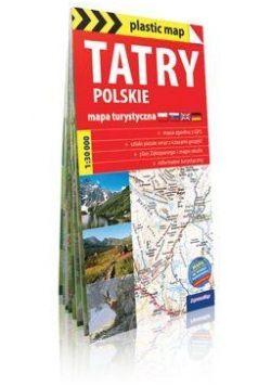 Plastic map Tatry polskie 1:30 000 mapa