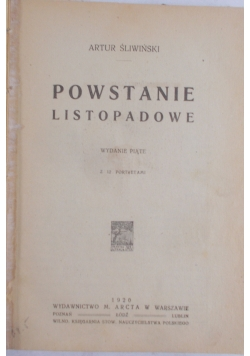Powstanie listopadowe 1920r