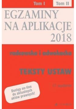 Teksty ustaw. Egzaminy. Aplikacje radcowska...T.2