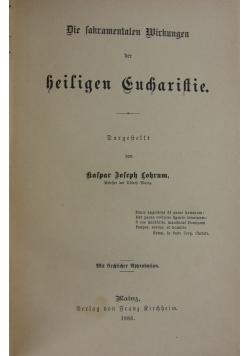 Heiligen Eucharistie , 1886r.