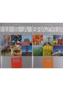 Brazylia.USA- Cuda świata. 100 kultowych rzeczy, zjawisk, miejsc, 2 książki