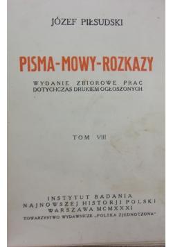 Pisma-mowy-rozkazy tom VIII, 1924r.