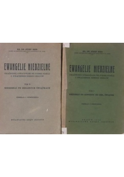 Ewangelje niedzielne Tom I-II, 1936 r.