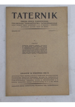 Taternik rocznik XIV, 1930 r.