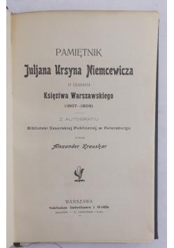 Pamiętnik Juljana Ursyna Niemcewicza, 1902 r.