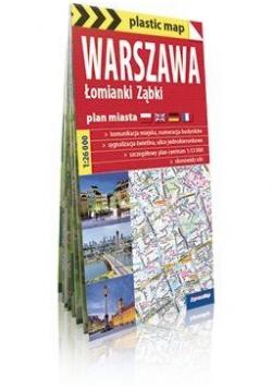 Plastic map Warszawa, Łomianki, Ząbki mapa