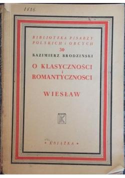 O klasyczności i romantyczności, 1948r