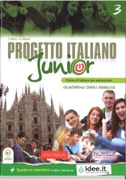 Progetto Italiano Junior 3 Zeszyt ćwiczeń