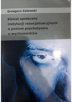 Klimat społeczny instytucji resocjalizacyjnych a poziom psychotyzmu u wychowanków