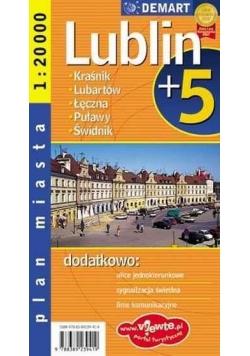 Plan miasta Lublin +5 1:20 000 DEMART