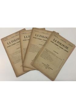 La Pologne, zestaw 4numerów, 1928