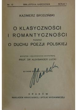 O klasyczności i romantyczności tudzież o duchu poezji polskiej