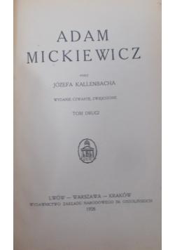 Adam Mickiewicz, tom I, 1926 r.