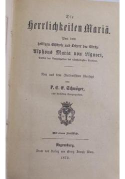 Die herrlichkeiten Maria,1872r.