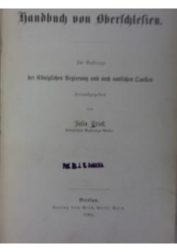 Lopographiscjes. Handbuch von Oberschlesien, 1865 r.