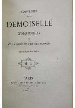 Souvenirs D'Une Demoiselle D' Honneur, 1861 r.