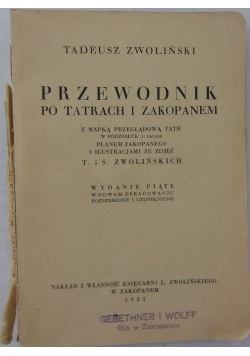 Przewodnik po Tatrach i Zakopanem, 1937r.