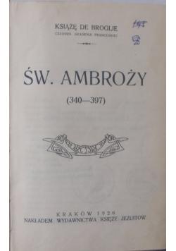 Św. Ambroży, 1926 r.