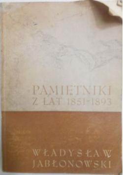 Pamiętniki z lat 1851-1893