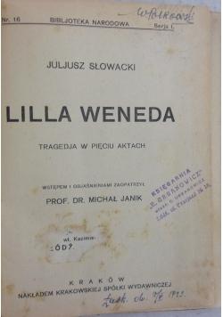 Lilla Weneda, 1920 r.
