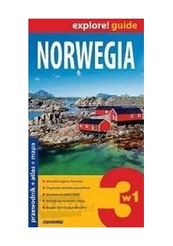 Norwegia Przewodnik atlas + mapa