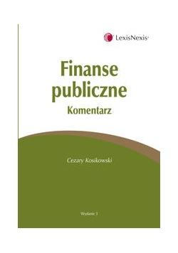 Finanse publiczne. Komentarz