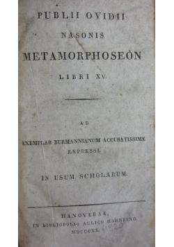 Publii Ovidii Nasonis Metamorphoseon Libri XV, 1820 r.