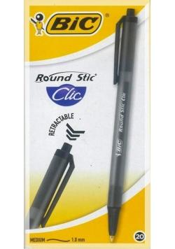 Długopis Round Stic Clic czarny (20szt) BIC
