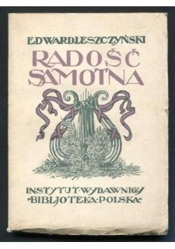 Radość Samotna, 1923 r.