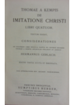 Thomae a kempis de imitatione christi, 1909  r.