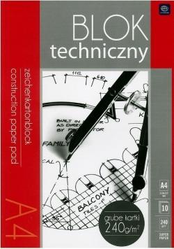 Blok techniczny A4/10K 240g Premium (10szt)