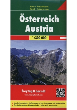 Austria mapa 1:500 000 Freytag & Berndt