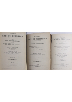 Cours de meditations TOM I ,II, IV, 1983 r.