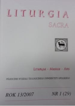 Liturgia Sacra. Nr  1(29)