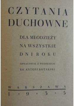 Czytania duchowne, 1935r.