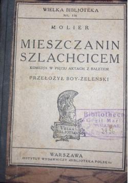 Mieszczanin szlachcicem, 1925 r.