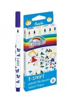 Pisaki T-SHIRT do tkanin 6 kolorów FIORELLO