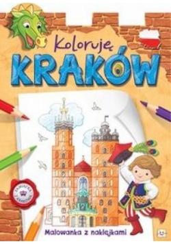 Koloruję Kraków Malowanka z naklejkami