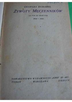 Żywoty męczenników, 1939r.