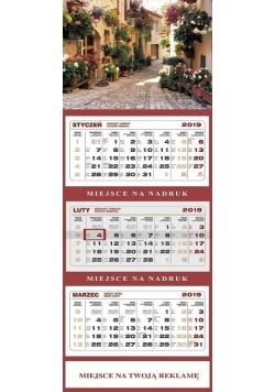Kalendarz 2019 Ścienny Trójdzielny Toskania