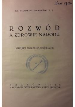 Rozwód a zdrowie narodu , 1926 r.