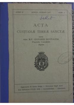 Acta Custodiae terrae sanctae