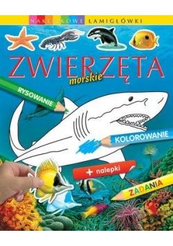Zwierzęta morskie. Naklejkowe łamigłówki