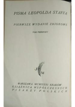 Pisma Leopolda Staffa, 1931 r.