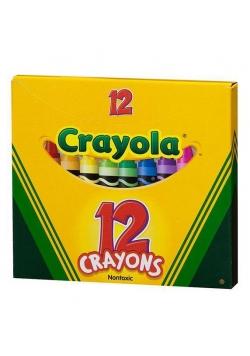 Kredki świecowe 12 kolorów CRAYOLA