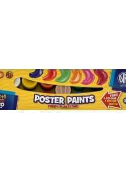 Farby plakatowe 13 kolorów 20ml ASTRA