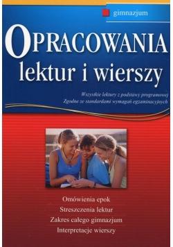 Opracowania lektur i wierszy gimnazjum